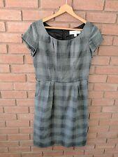 Merona Dress Gray Plaid Womens Size 10 Pockets