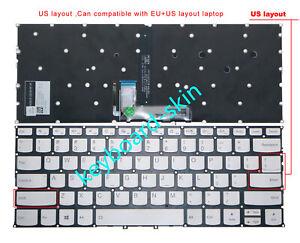New for Lenovo Yoga C940-14,C940-14IIL 14 inch laptop US Keyboard Backlit Silver