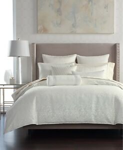 Hotel Collection Plume FULL/QUEEN Duvet Cover White $370