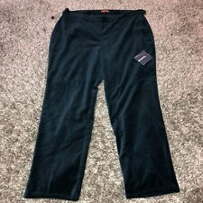NWT Modcloth Manhattan pants Women's 1X, cropped, teal Blue Velvet Plus Size