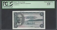 Malawi 50 Tambala L1964(1971) P5s Specimen About Uncirculated