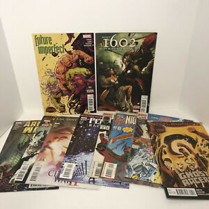 MARVEL COMIC BOOK LOT OF 10 MIXED COMICS NIGHTWATCH UNCANNY 1602 GHOST RACERS