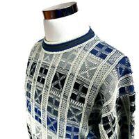 Men's Vintage Botany 500 Acrylic Nylon Knit Pullover Sweater Size Large
