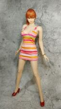 1:6 Scale Red stripe Women's Dress For 1/6th HT PH Female Figure Doll Toys