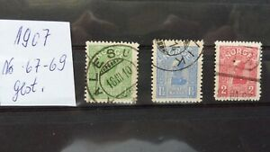 Verkaufe Norwegen Nr.67-69 gestempelt