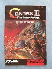 CONTRA III THE ALIENS WAR SUPER NINTENDO 1992 SNES *MANUAL ONLY* ACTUAL PICTURES
