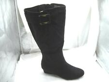 $89.00 NEW Cloudwalkers sz 12W wide Tori black tall riding boots womens shoes