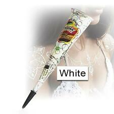 4 x GOLECHA WHITE HENNA CONES | BODY ART | TEMPORARY TATTOO | MEHENDI |100% SAFE