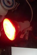Lampe à pince LITA design inclinable, vintage  loft avec ampoule  rouge