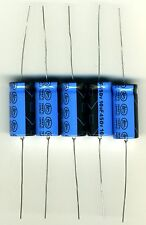 LOT DE 5 CONDENSATEURS AXIAUX HAUTE TENSION 10 µF - 450 Volts