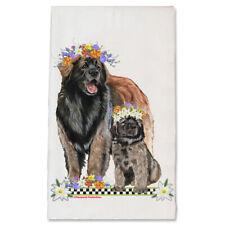 Leonberger Dog Floral Kitchen Dish Towel Pet Gift