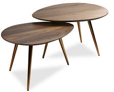 Mid Century Modern Coffee Table Set - Nesting Table - 2 Piece Set by Edloe Finch