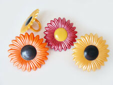24 Fall Daisy Cupcake Rings Cake Toppers Decorations Favors Supplies Flower