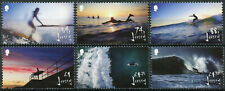 More details for jersey 2021 mnh sports stamps surfing landscapes beaches 6v set