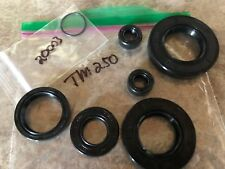 Suzuki TM250 1973 -75 TS250 76-81 Engine Main Crank Shaft Seal Set Vintage AHRMA