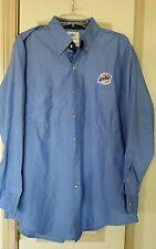 Miller Lite Long Sleeve Mens Work Shirt Uniform Mens Size XL 17-17 1/2