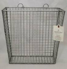 Galvanized metal hanging Storage Basket Hearth & Hand Magnolia Décor Country New