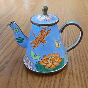Kelvin Chen Miniature Teapot 1999 Lotus Blossoms No. 642