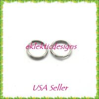 6mm 50pc 1.2mm 304 Stainless Steel Double Split Jump Rings Jewelry Findings Open