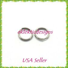 6mm 50pc 1.4mm 304 Stainless Steel Double Split Jump Rings Jewelry Findings Open