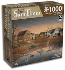 "Art of Sam Timm  ""Country Village"" 1000 piece 20"" x 27"" puzzle 2009 Karmin"