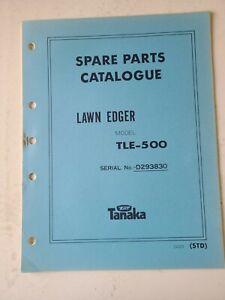 Tanaka Spare Parts Catalogue Lawn Edger  Model TLE-500