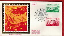 Enveloppe FDC France 1er jours Service N° SE 93 & 94 à Strasbourg de 1986