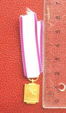 Belgique - Rare Miniature de la médaille de la Défense Passive 1940-45 - Doré