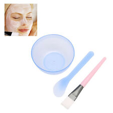 3Pcs Homemade Makeup Set Beauty DIY Facial Face Mask Bowl Brush Spoon Stick Tool