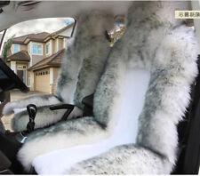 2xUniversal Genuine Australian Sheepskin Fur Car Front Seat Cover Cushion Winter