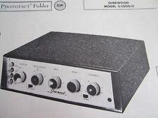 SHERWOOD S-1000-II AMP AMPLIFIER PHOTOFACT