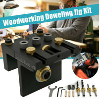 3 in 1 Woodworking Doweling Jig Kit Positioning Clip Drill Puncher Locator Tool