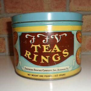 FFV Tea Rings Biscuit Tin
