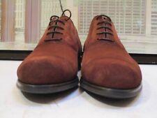 Men's $450 NWOB Magnanni Dark Brown Suede Cap Toe Oxfords Size 41 EUR/8 USA