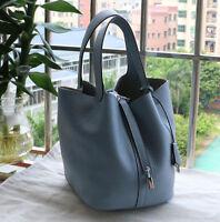 Women Genuine Leather Handbag Tote Shoulder Messager Bag  basket  herme  s bag