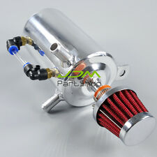 0.5L 12mm OD Barb Racing Engine Oil Catch Tank Can Reservoir& Breather Filter