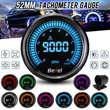 2'' 52mm Car 0-9000RPM Tachometer Tacho Gauge Meter 10 Colors LED light 12V RPM