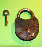 Vintage Padlock With Key Original Antique Soviet
