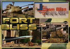 Fort Bliss El Paso Texas, USA Army, Panzer, Hubschrauber, Militärische Raketen -- Postkarte
