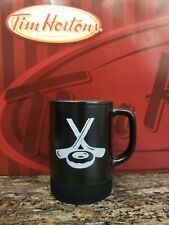 Tim Hortons Hockey Mug with Puck bottom Black - 2 sticks with Donut