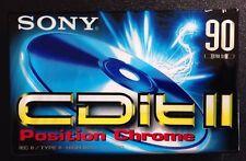 NUOVO SIGILLATO SONY CDit 90 MIN CASSETTA cromo per 4 TRACCE registratore vintage