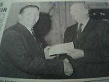1967 football item - jock stein celtic and frank pope dumbarton clockmaking