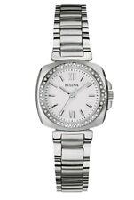 Bulova Women's Quartz Diamond Accents Silver-Tone Bracelet 26mm Watch 96R200