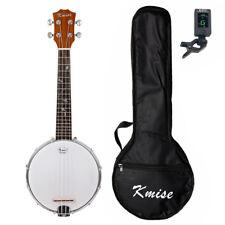 Kmise Banjolele Concert 4 String Banjo Ukulele 23 Inch Ukelele Sapele W/gig Bag
