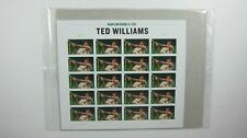 Usps Major League Baseball Ted Williams Sheet Of 20 Mnh Stamps Sealed