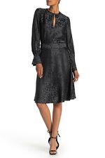 NWT $495 EQUIPMENT 'Magnolia' Backless Leopard Print Silk Dress, Black, Size 4