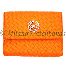 Glam Rock Orange Hand Braided High Quality Techno Silk Ladies Wallet WL001-19 SM