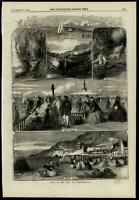 Isle of Wight views England U.K. Ventnor Ryde Pier 1859 ILN wood engraved print