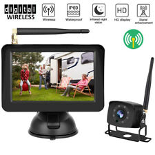 "Digital Wireless Backup Camera & 5"" Rear View Vehicle Reverse Parking Monitor"