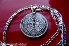Real ANTIQUE Silver English Florin .925 STERLING SILVER CHAIN. You Chose Length!
